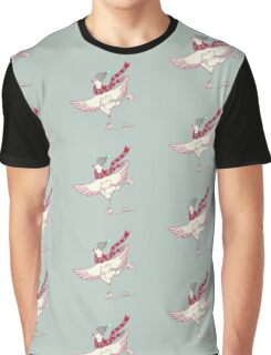 Winter skating chicken Graphic T-Shirt