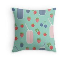 Berry Smoothies Throw Pillow
