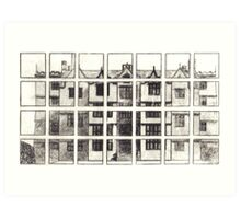 Fragmented Architecture Art Print