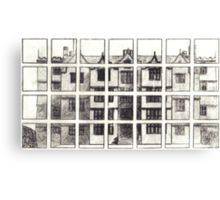 Fragmented Architecture Canvas Print