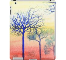 Sunset with Blue Trees iPad Case/Skin