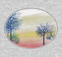Sunset with Blue Trees Kids Clothes