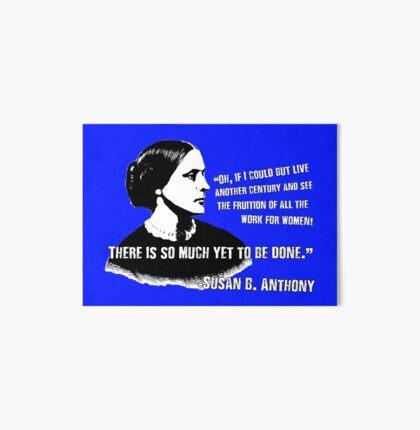 Revolutionary Women: Susan B. Anthony Art Board