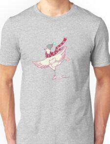 Winter skating chicken Unisex T-Shirt