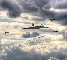 Avro Vulcan And The Gnat Display Team Dunsfold 2014 - HDR by Colin  Williams Photography