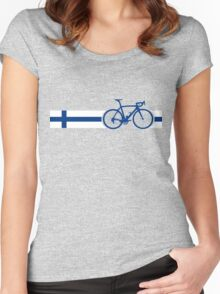 Bike Stripes Finland Women's Fitted Scoop T-Shirt