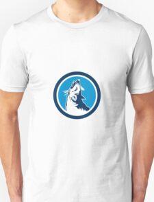 Red Fox Head Howling Circle Retro Unisex T-Shirt