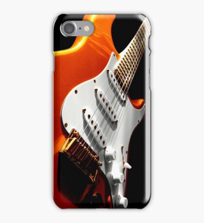 Electric Guitar #1 Orange iPhone Case/Skin