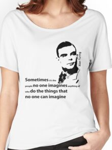 Turing  - Black and White Style Women's Relaxed Fit T-Shirt