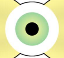 Creepy-Cute Eye-Bulb Bow Sticker