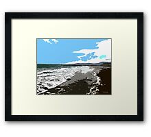 SUMMER SURF Framed Print