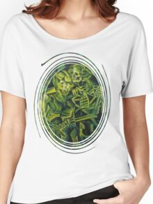 A Skeleton Embracing A Zombie Halloween Horror Women's Relaxed Fit T-Shirt