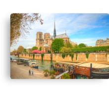 Notre Dame & the River Seine Canvas Print