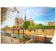 Notre Dame & the River Seine Poster