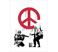 Banksy - Soldiers want Peace Photographic Print