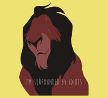 The Lion King - I'm Surrounded By Idiots - Scar One Piece - Short Sleeve