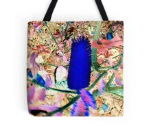 Neon Blue Banksia Tote Bag
