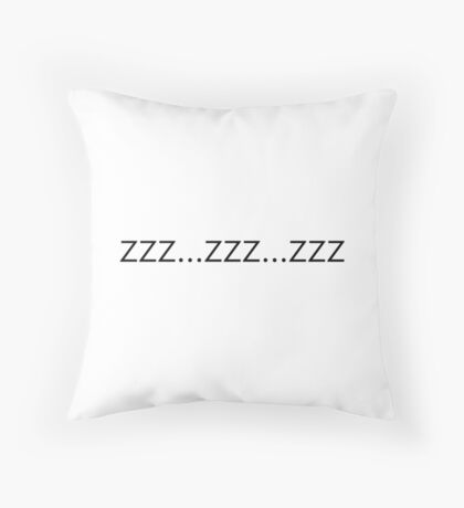 zzz Throw Pillow