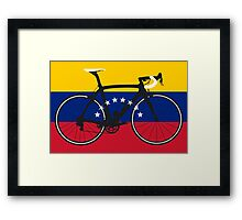Bike Flag Venezuela (Big - Highlight) Framed Print