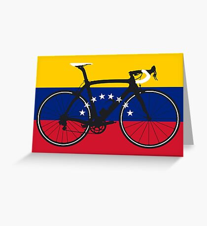 Bike Flag Venezuela (Big - Highlight) Greeting Card