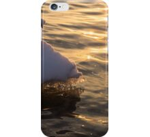 Happy Sunset Ice - the Icy Snowbanks Reflecting in the Lake iPhone Case/Skin