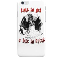 Vintage Vampire Skeleton Halloween Illustration  iPhone Case/Skin
