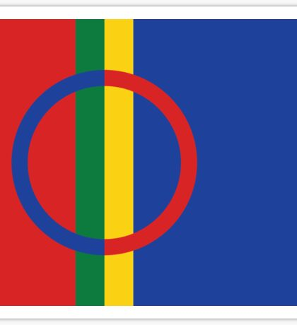 Flag of the Sami people Sticker
