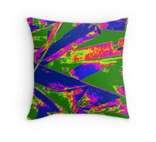 Neon Wood Stack Throw Pillow