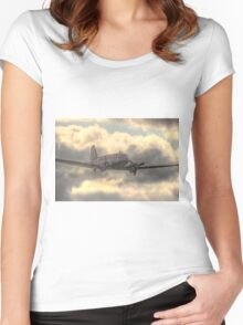 The Douglas C-47 Skytrain - Wings And Wheels 2014 - HDR Women's Fitted Scoop T-Shirt