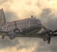 The Douglas C-47 Skytrain - Wings And Wheels 2014 - HDR Sticker