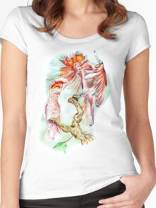 Major Mitchell cockatoo Women's Fitted Scoop T-Shirt