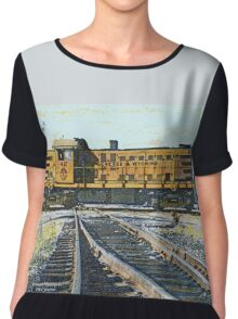 Genesee&Wyoming Railroad 42 Caledonia, NY 1982 Chiffon Top