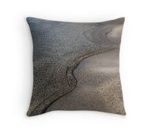 Lakeshore Tranquility - the Slowly Curling Wave Throw Pillow