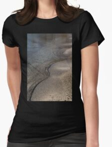 Lakeshore Tranquility - the Slowly Curling Wave Womens Fitted T-Shirt