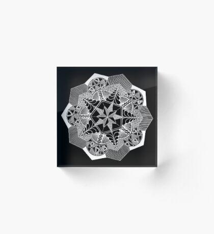 Pentacle Snowflake Acrylic Block