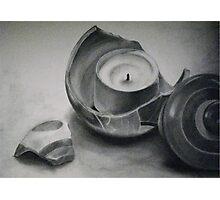 Cracked Pot Photographic Print