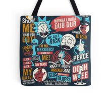 Rick & Morty Quotes Tote Bag