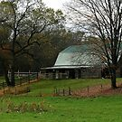 Horse Barn In Autumn by Geno Rugh