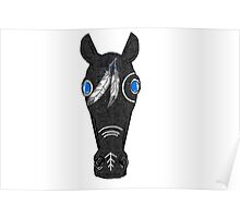 Native American Horse Feathers Tribal Pretty Poster
