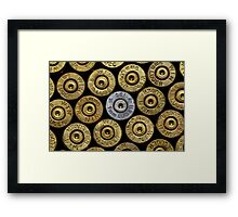 9mm Brass #1 Framed Print