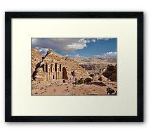 The Monastery Al Deir in ancient town Petra Framed Print