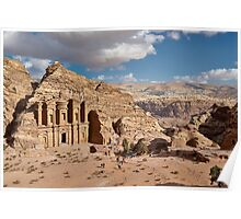 The Monastery Al Deir in ancient town Petra Poster