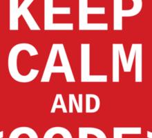 Developer? Keep Calm and Code On Sticker