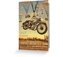 Vintage Motorcycle Show Poster Greeting Card