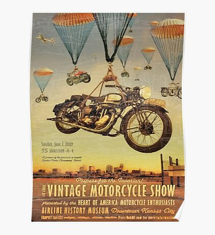 Vintage Motorcycle Show Poster Poster