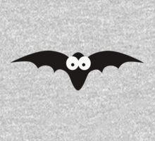 Black bat with big eyes One Piece - Short Sleeve