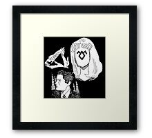 Laura and Coop  Framed Print