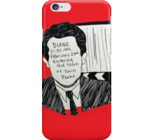 Entering the Town of Twin Peaks  iPhone Case/Skin
