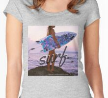 surf in color Women's Fitted Scoop T-Shirt