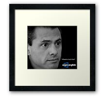 oepn english Framed Print